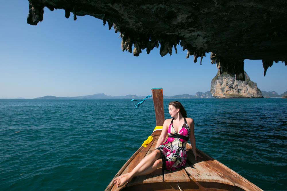 Tara with Mike honeymoon photography shoot in Krabi around Koh Porda and Railay beach during sunset.