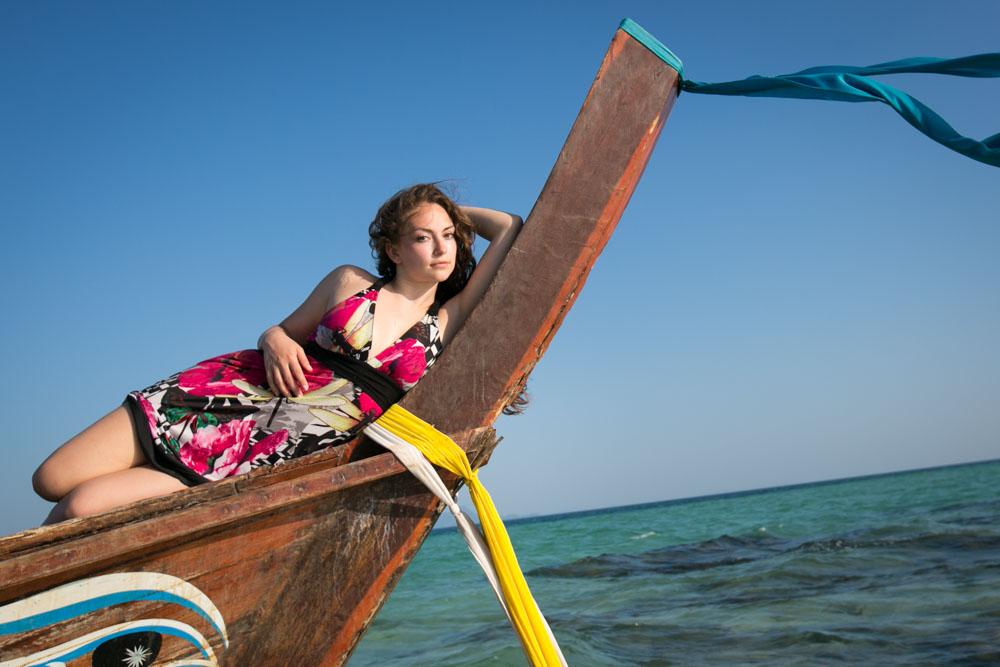 Tara with Mike honeymoon photography in Krabi