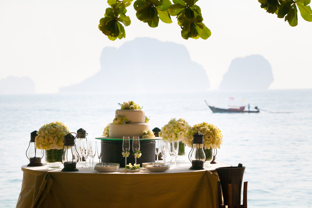 Beth & Nick's wedding in Krabi Thailand at Rayavadee resort.