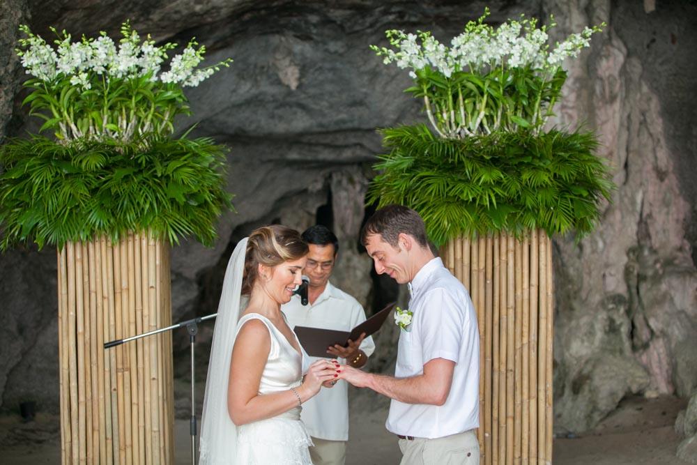 Beth and Nick's wedding in Krabi Thailand at Rayavadee resort.