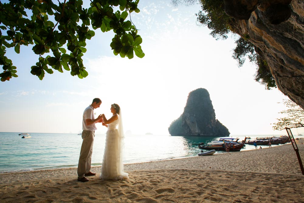 Beth & Nick's wedding in Krabi Thailand at Rayavadee resort.