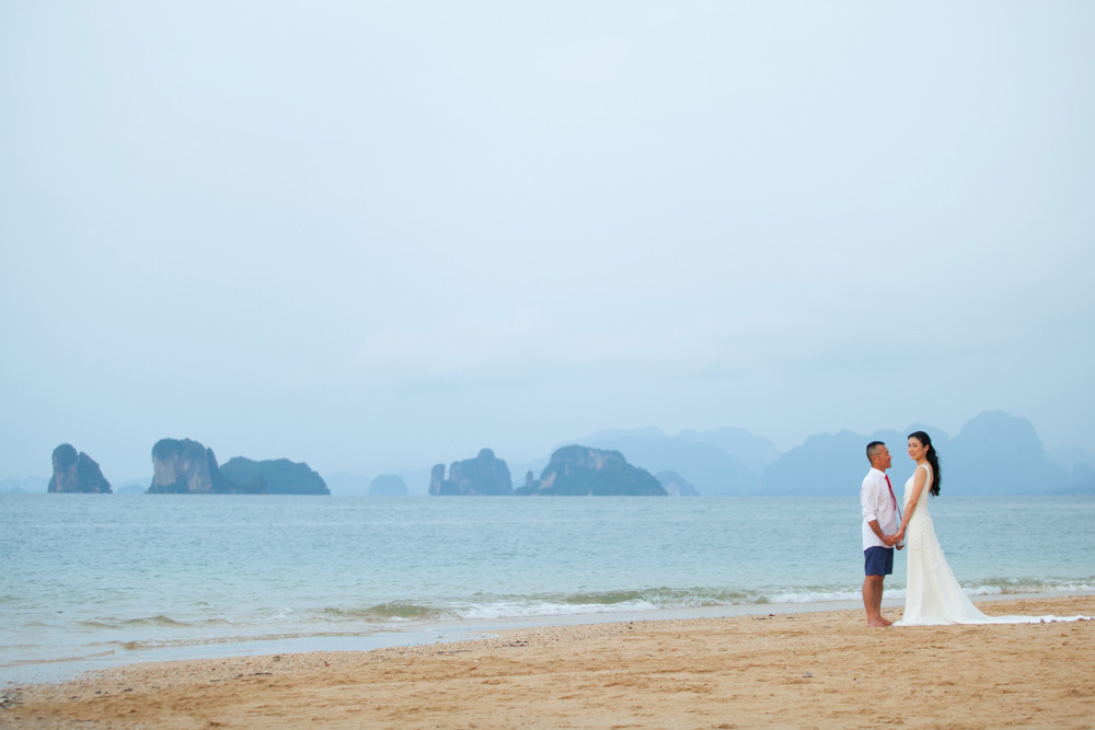 Mandy & Lim traveling by their private yacht to get married on Small Island next from Koh Yao Noi