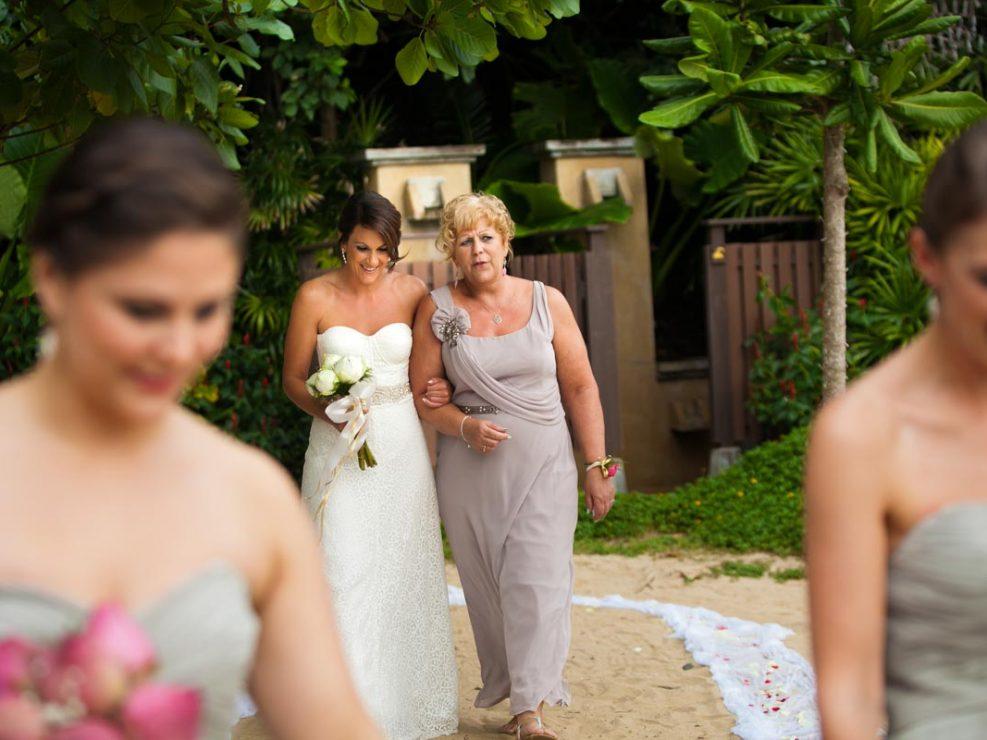 Cavin beach wedding with Stecy at Pimalai resort Koh Lanta Krabi Thailand.