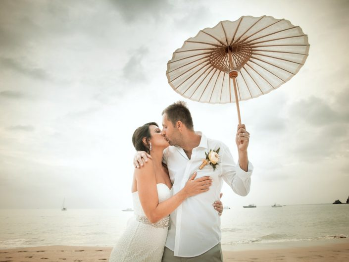 Cavin beach wedding with Stecy at Pimalai resort Koh Lanta Krabi Thailand.