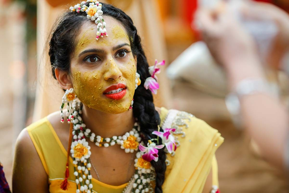 haldi ceremony. for Jessica and Kris Hindu wedding