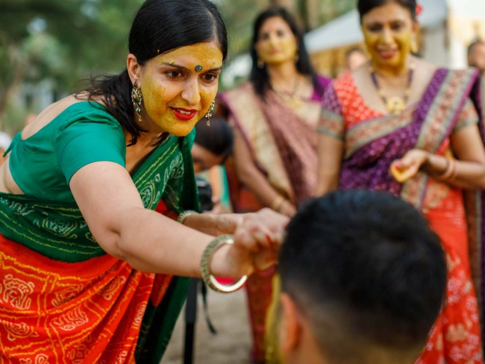 haldi ceremony. for Jessica and Kris Hindu wedding