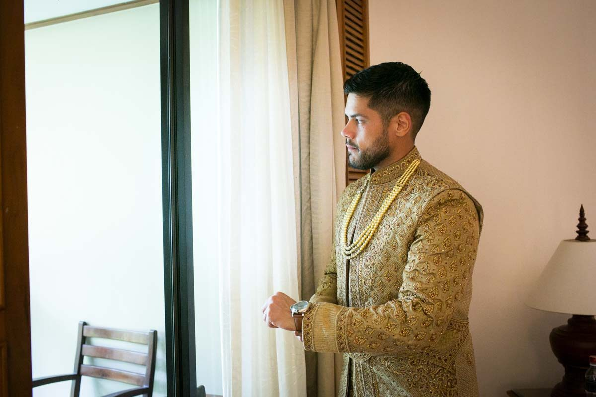 Getting ready for Jessica and Kris Indian wedding in Phuket Thailand