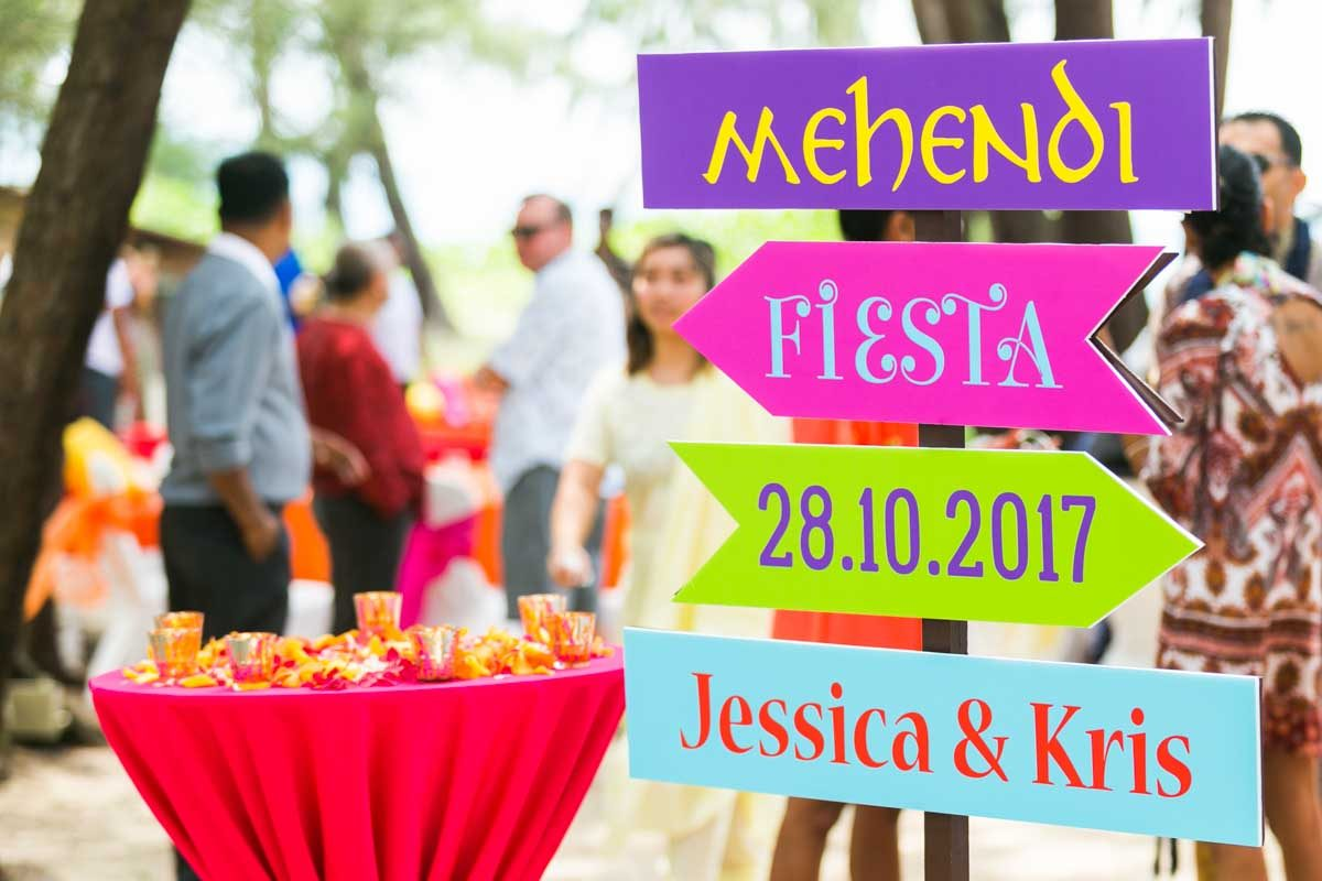 Mehndi for Jessica and Kris Indian wedding in Phuket Thailand