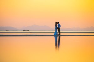 Kendell and Eoin beach wedding in Samui Thailand
