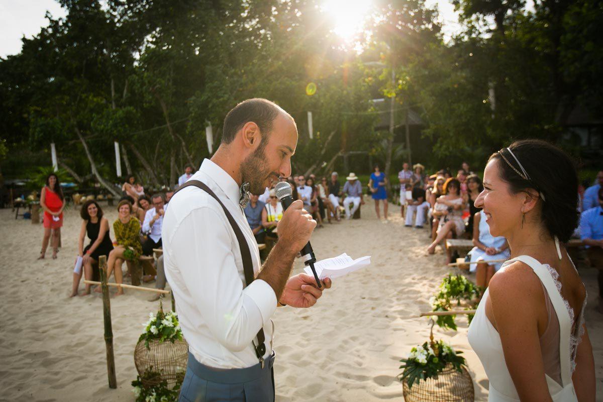 France with Helene wedding in Koh Yao Island ,Thailand