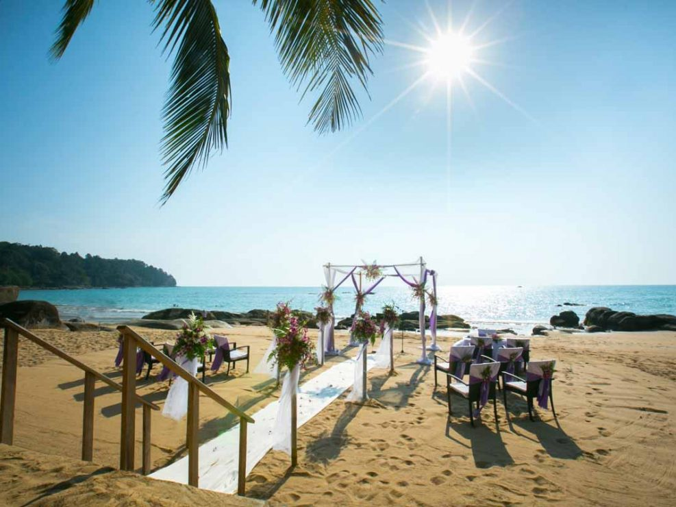 Christin and Dominik beach wedding in Khao Lak beach, Phang Nga Thailand