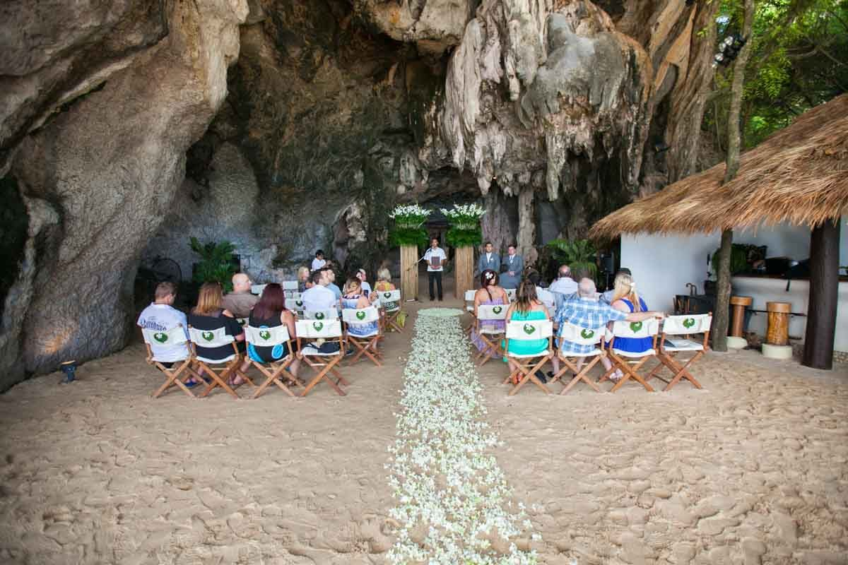 Samm and Daniel wedding photo session on Railay beac after there wedding ceremony at Rayavadee Resort Thailand.