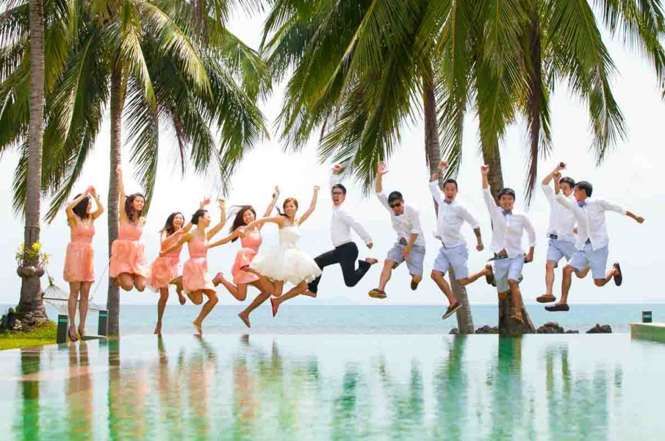 Tim with Cat 's wedding photography shoot in Samui Thailand