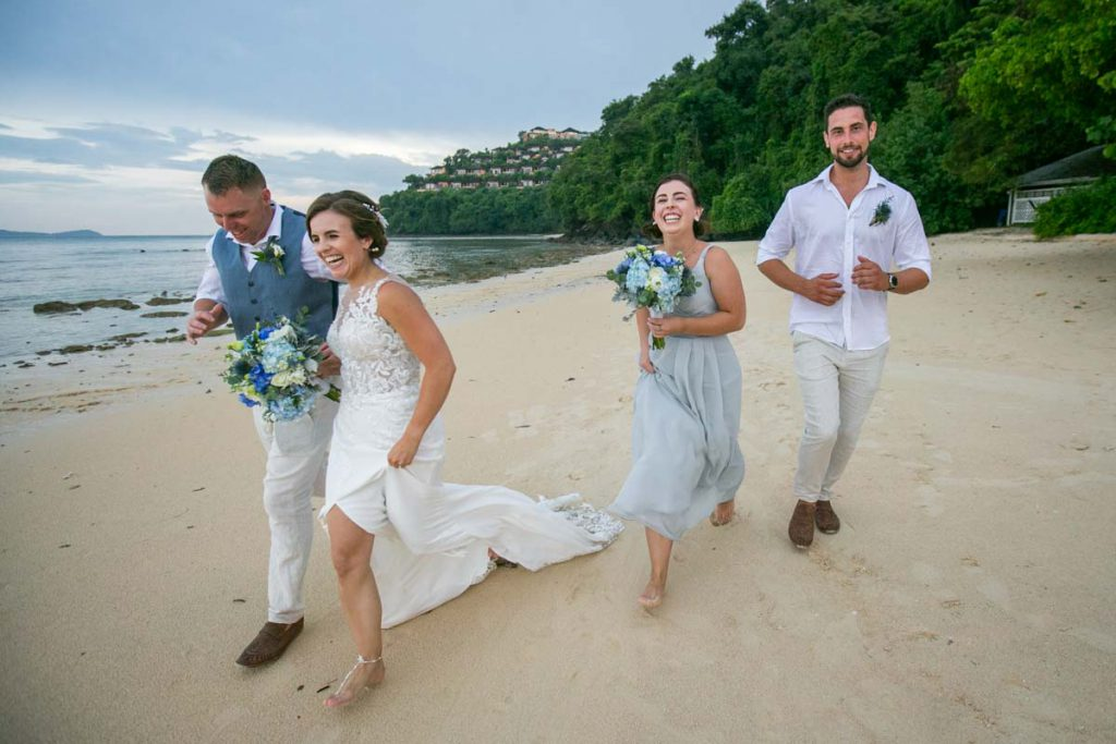Photography of Hayley and Jamie at Phuket beach wedding at Cape Panwa beach resort.