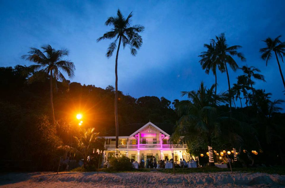 Phuket beach wedding at Cape Panwa beach resort