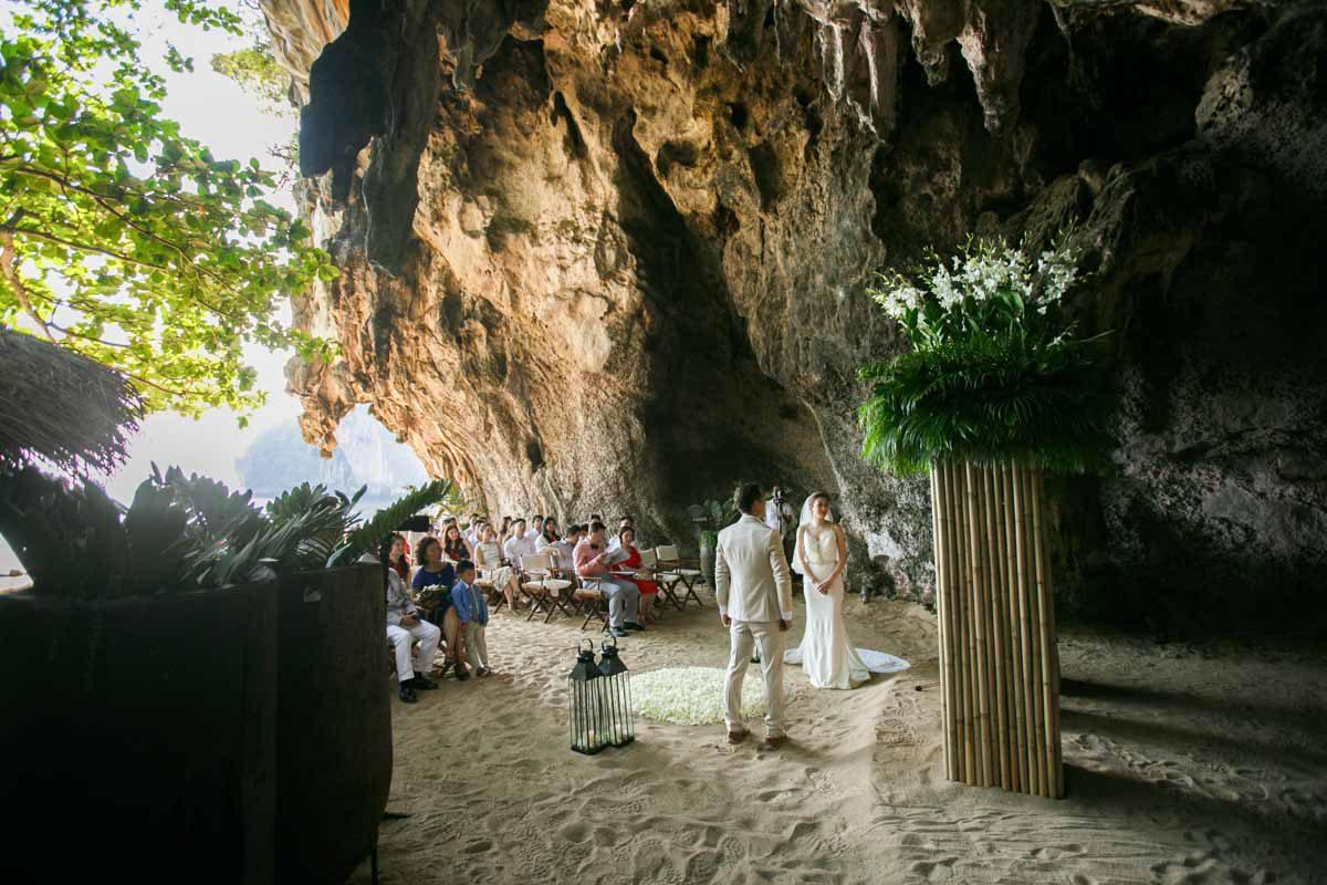 Wedding ceremony photo of Tina and Charlie in Rayavadee Krabi