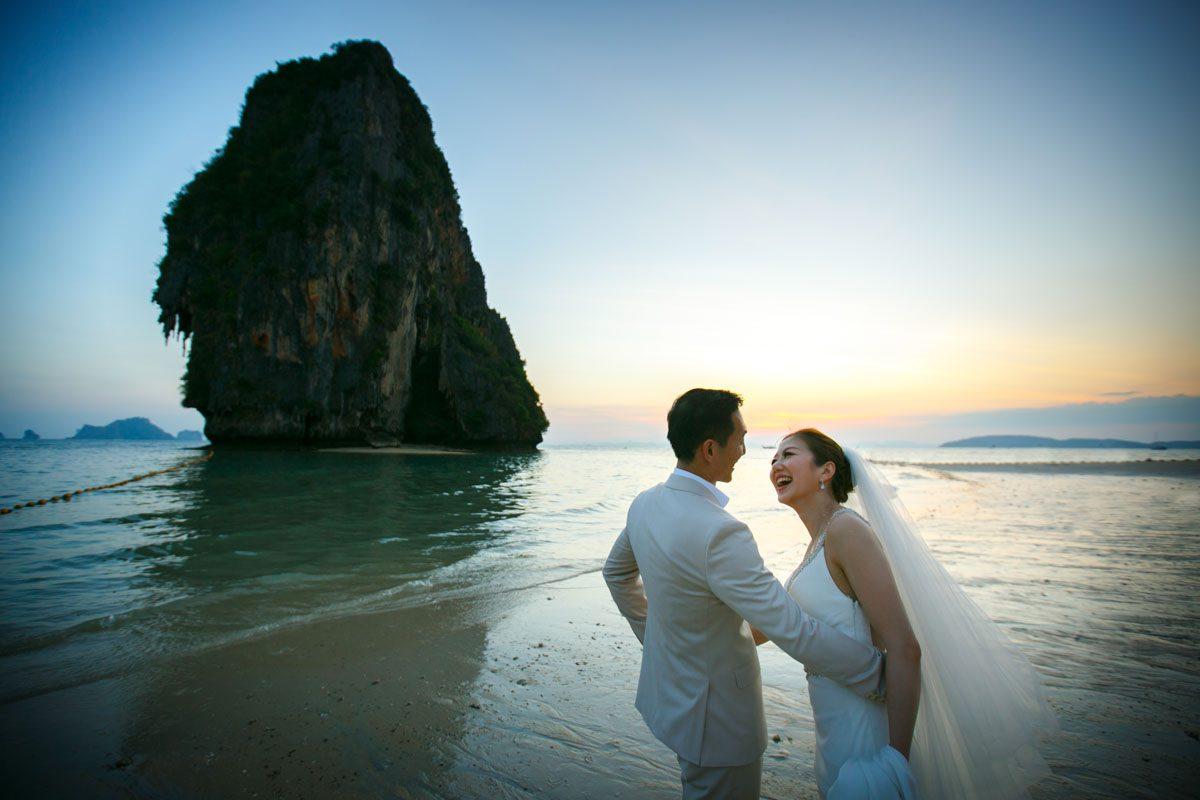 Wedding photo session of Tina and Charlie in Rayavadee Krabi